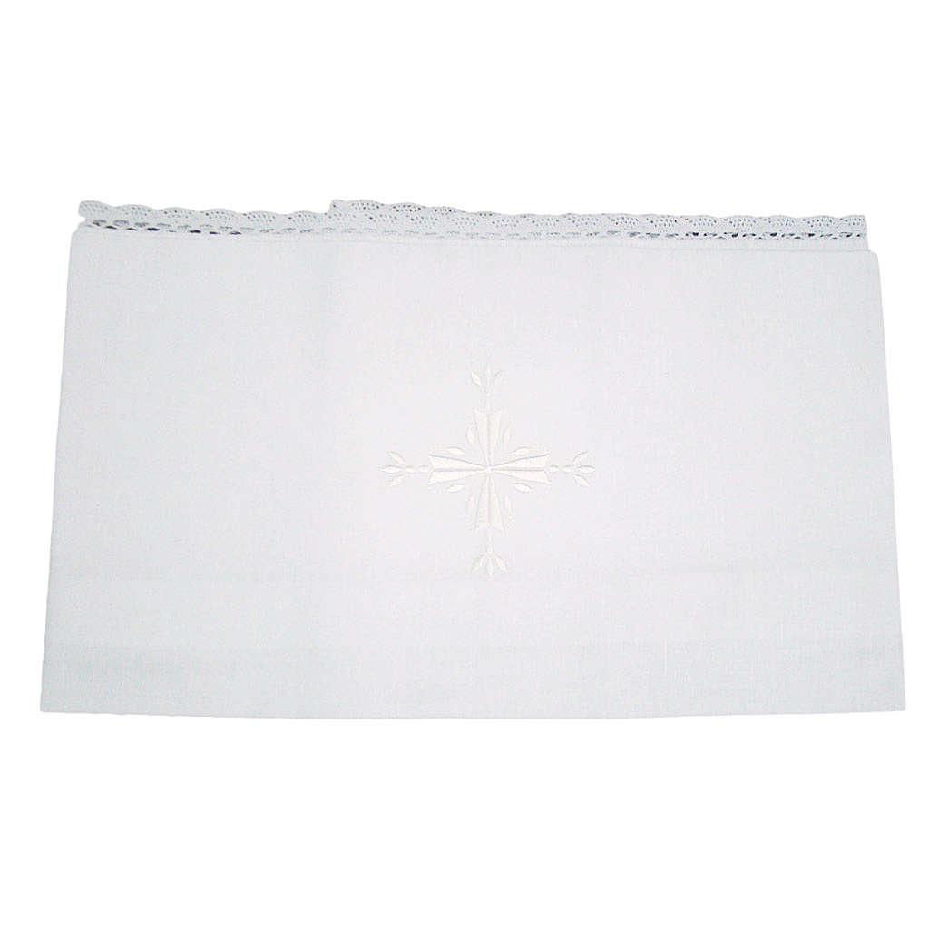 Amitto in lino e cotone croce ricamata 2 pz 4