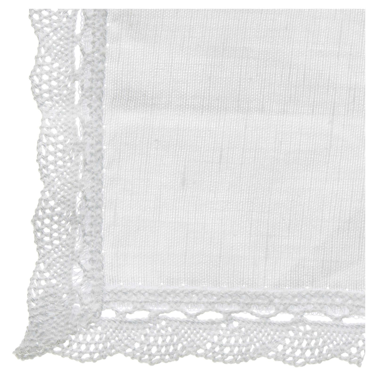 Conjunto de altar lino y algodón 2 piezas 4