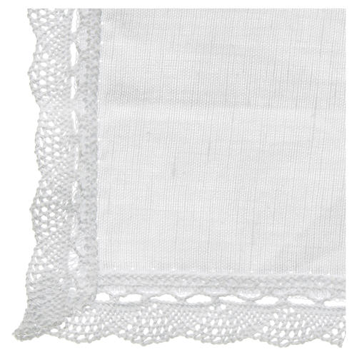 Altar linens, Manuterge in linen and cotton, 2 pieces 3