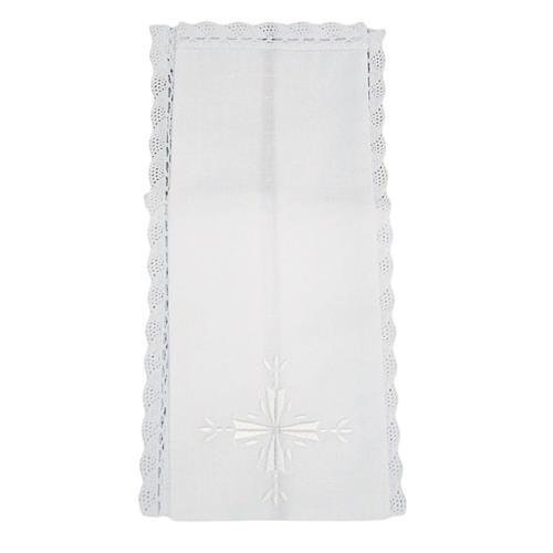 Purificatoire croix brodée lin et coton (2 pcs) 1