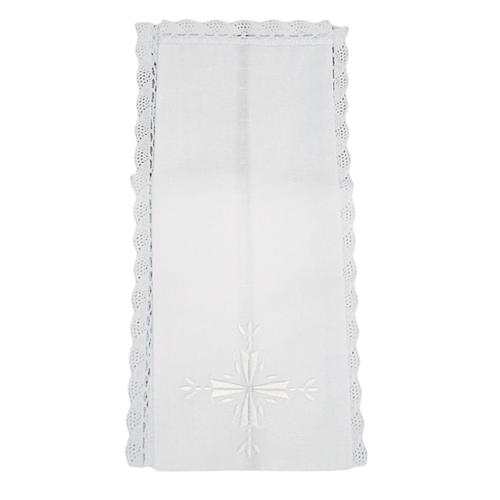 Altar linens, Purificator, linen and cotton, cross embroidery, 2pcs 1