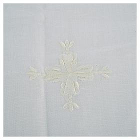 Corporal lino y algodón cruz bordada 2 piezas s2