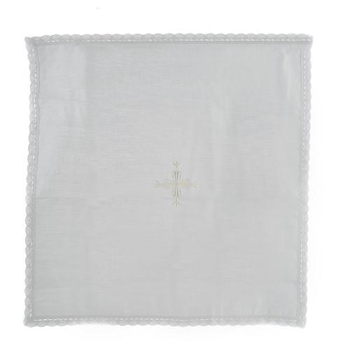 Corporal lino y algodón cruz bordada 2 piezas 1