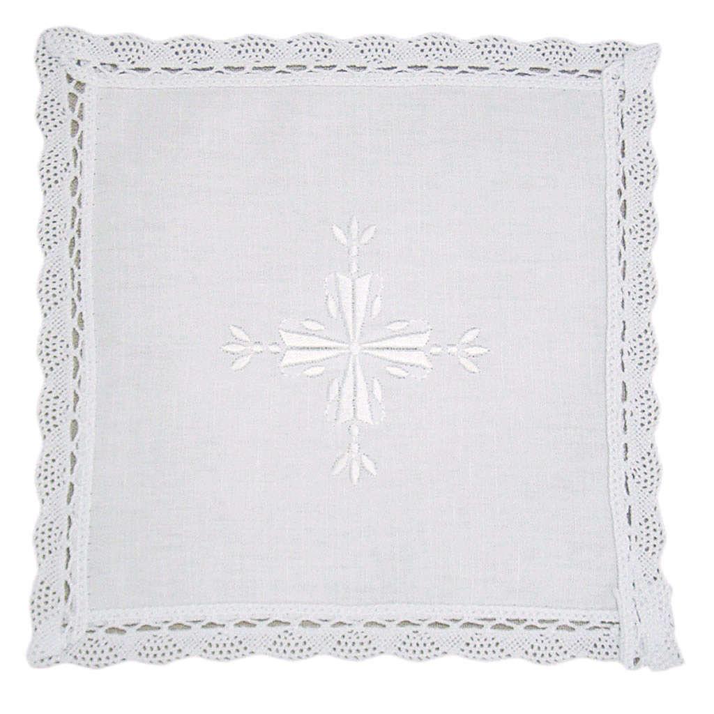 Palia lino y algodón cruz bordada 2 piezas 4