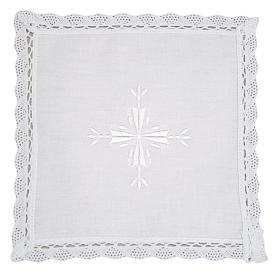 Palia lino y algodón cruz bordada 2 piezas s1