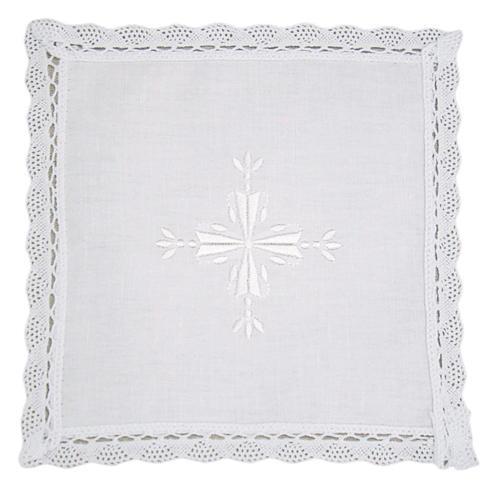 Palia lino y algodón cruz bordada 2 piezas 1