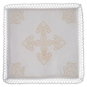 Altar linens, set of 5 in linen and cotton with amice s1