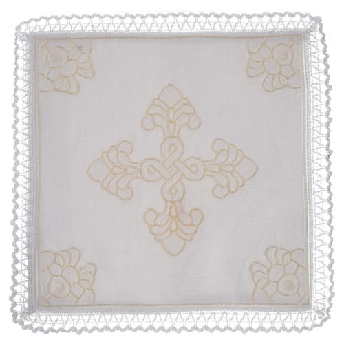 Altar linens, set of 5 in linen and cotton with amice 1