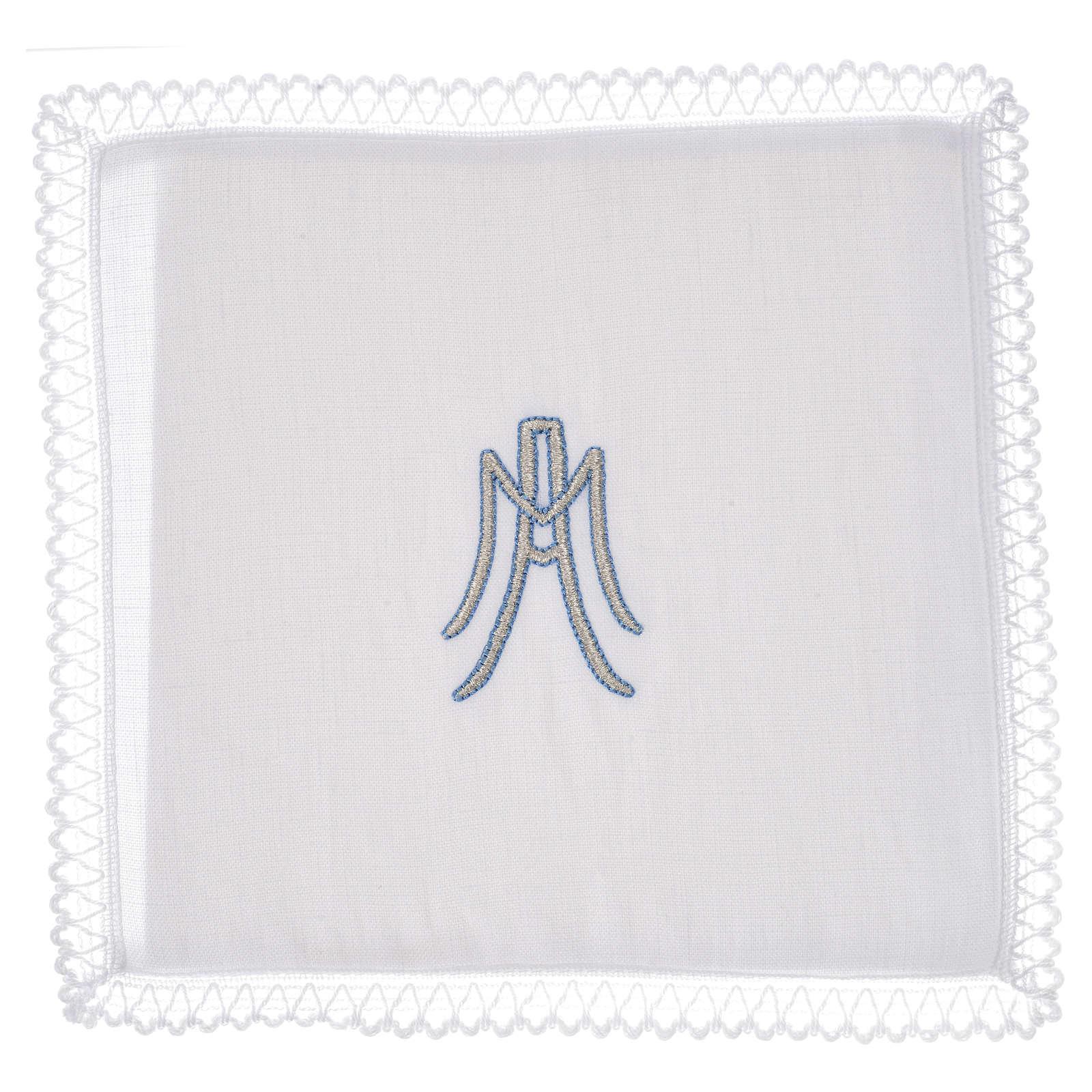 Linge d'autel Symbole Marial lin 4