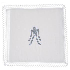 Linge d'autel Symbole Marial lin s1