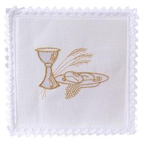 Conjuntos de Altar: Conjunto alfaia 100% linho cálice pão trig