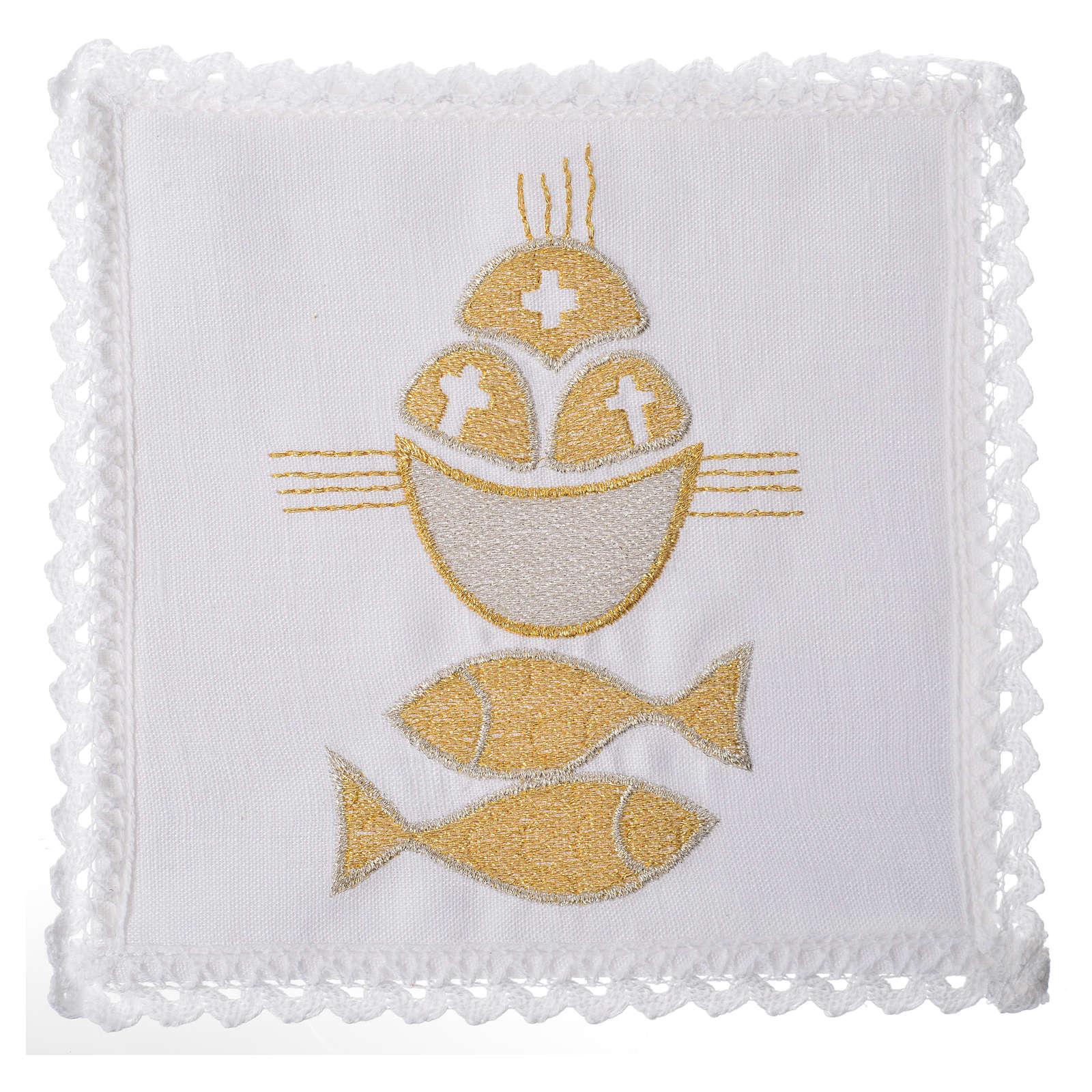Servizio da mensa 100% lino pani e pesci 4