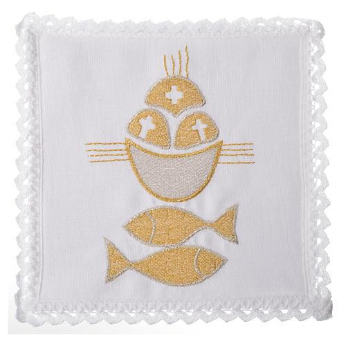 Servizio da mensa 100% lino pani e pesci 1
