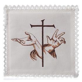 Linge d'autel 100% lin symbole stigmates s1