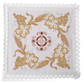 Set linge d'autel croix et décoration 100% lin s1