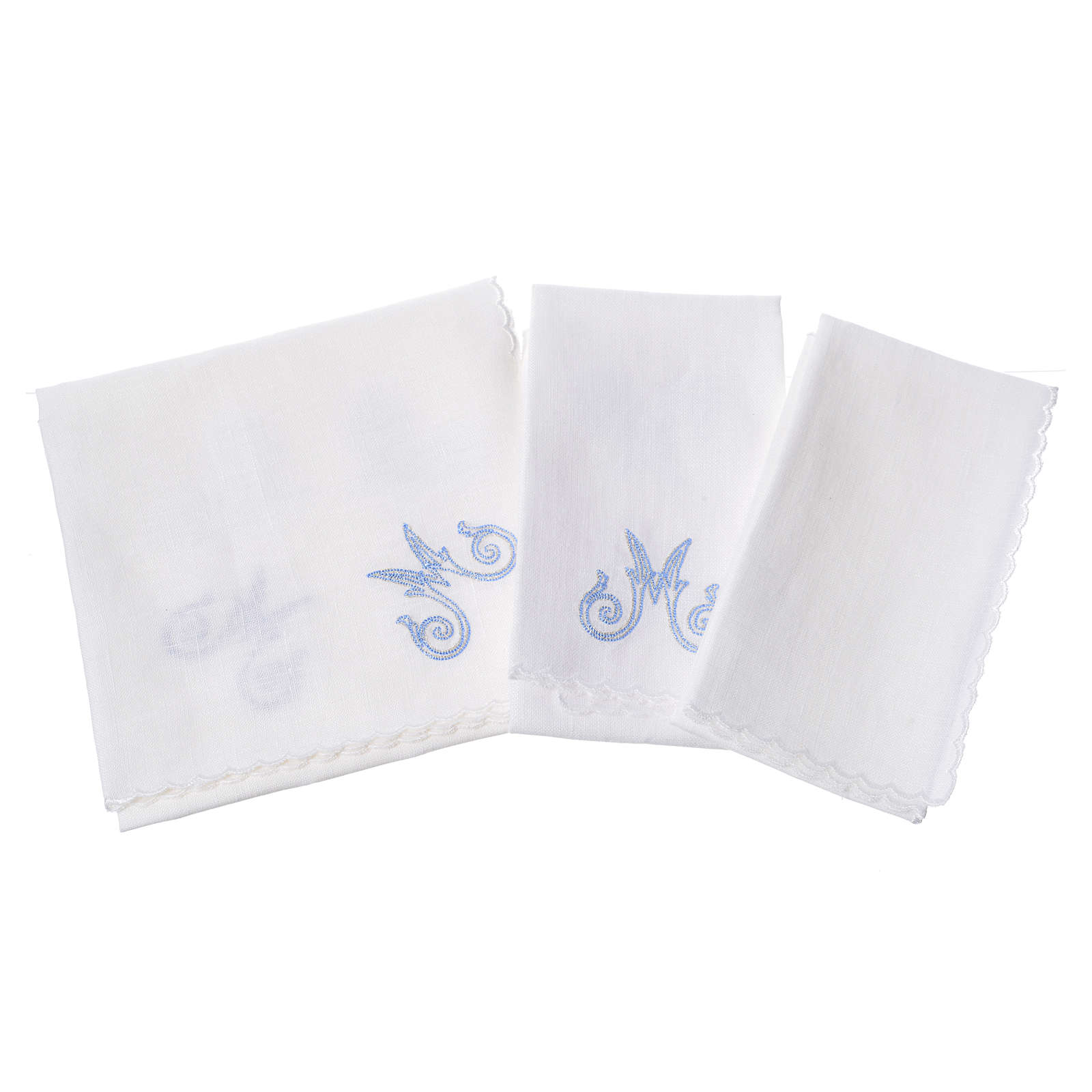 Altar cloth set, with Marian symbol and decorations 4