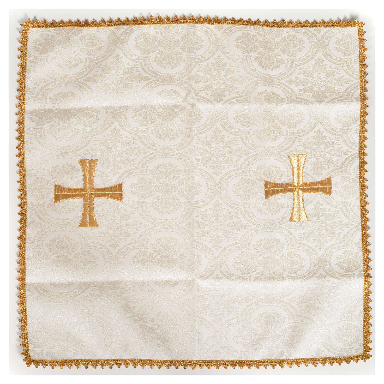 Chalice veil with golden cross 4