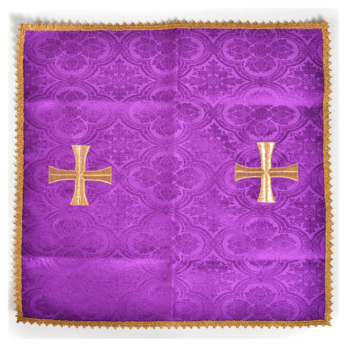 Chalice veil with golden cross 5