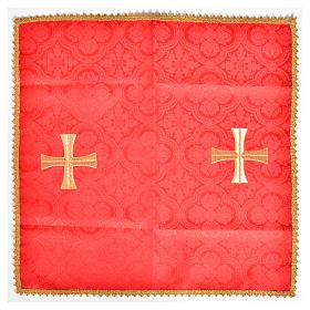 Voile de calice croix dorée s3