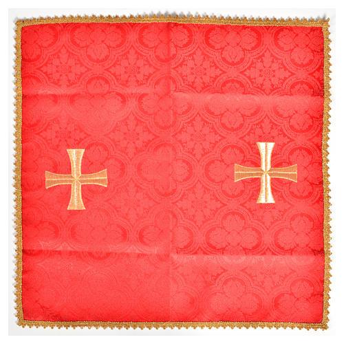 Voile de calice croix dorée 3