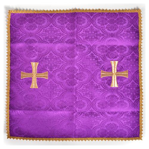 Voile de calice croix dorée 5