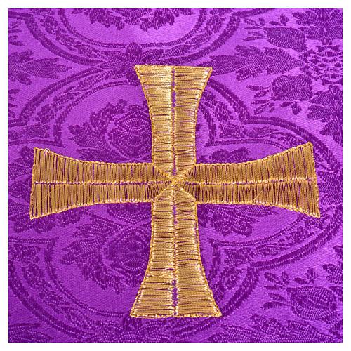 Voile de calice croix dorée 6