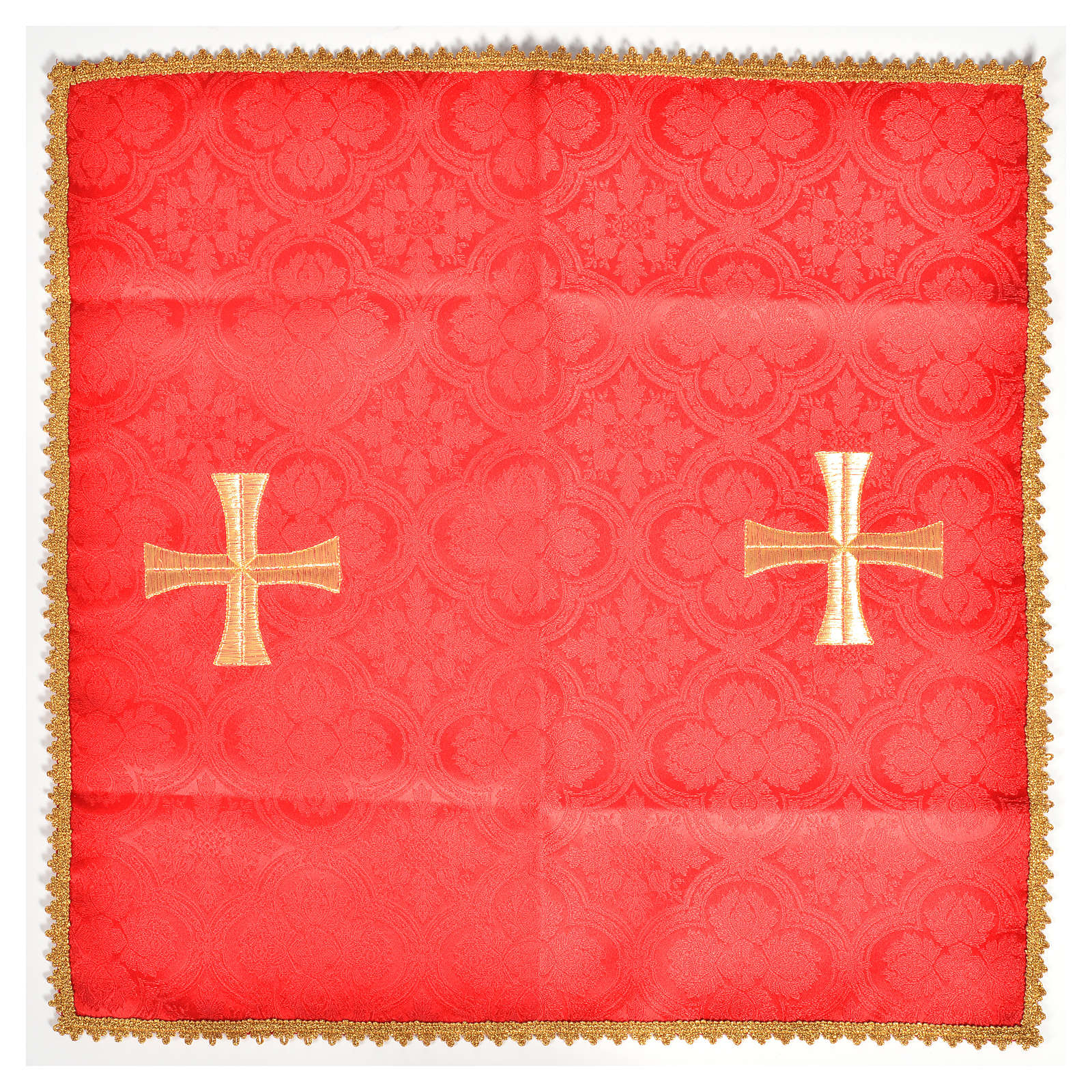 Chalice veil with golden cross motif 4