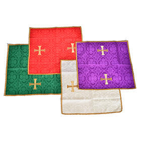 Chalice cover with golden cross s1