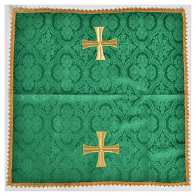 Chalice veil with golden cross motif s2