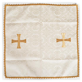 Chalice veil with golden cross motif s4