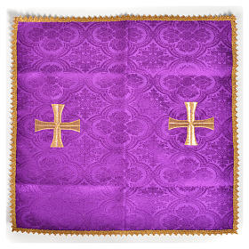 Chalice veil with golden cross motif s5