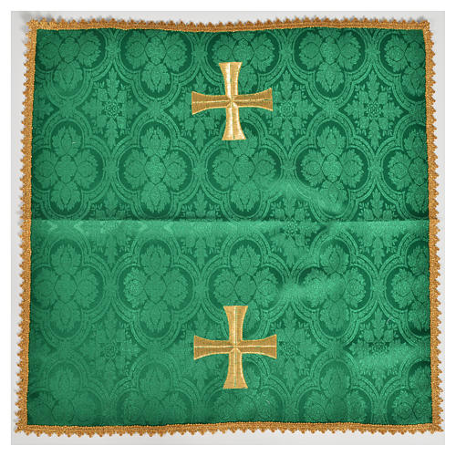 Chalice veil with golden cross motif 2