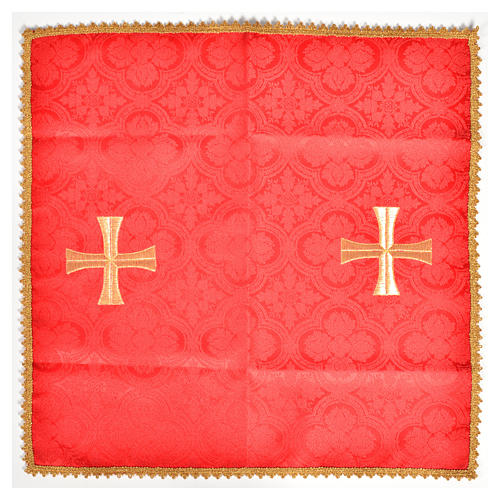 Chalice veil with golden cross motif 3
