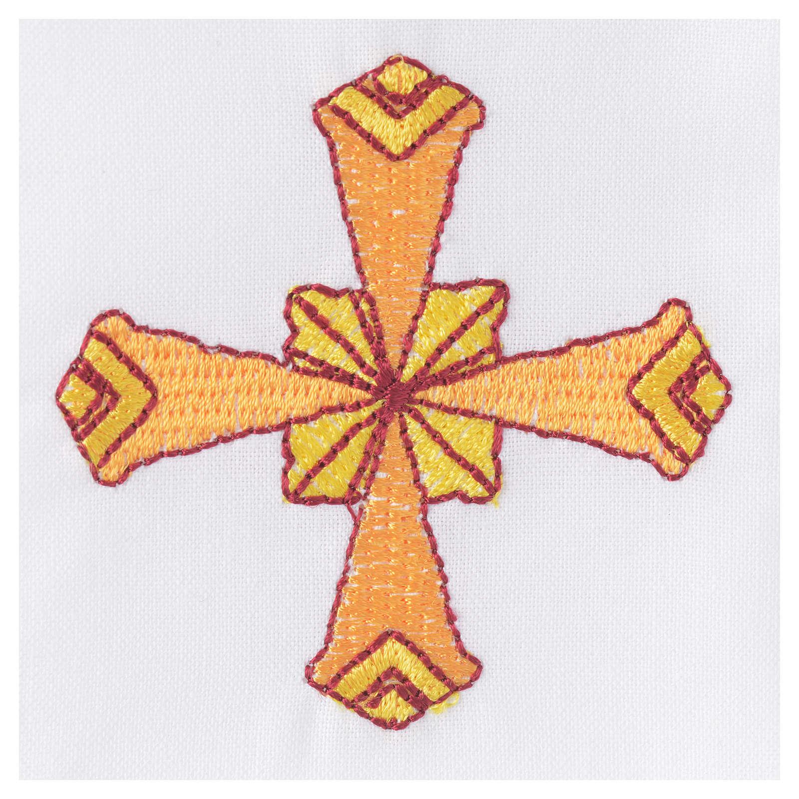 Set linge d'autel 4 pcs croix jaune 4