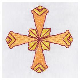 Set linge d'autel 4 pcs croix jaune s3