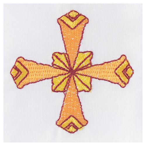 Set linge d'autel 4 pcs croix jaune 3