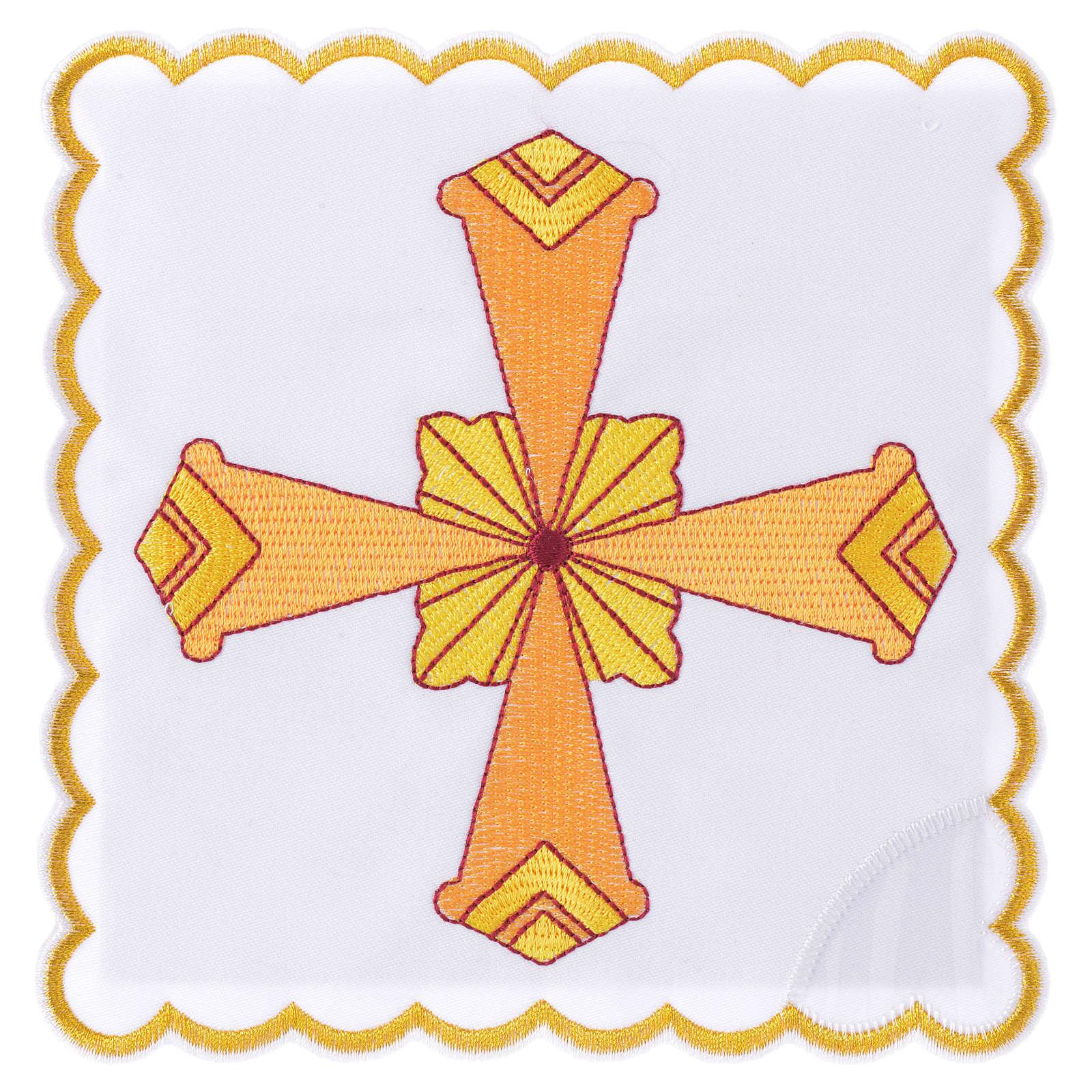 Servizio da altare croce gialla 4
