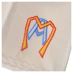 Servizio da mensa 100% lino simbolo mariano stilizzato s3