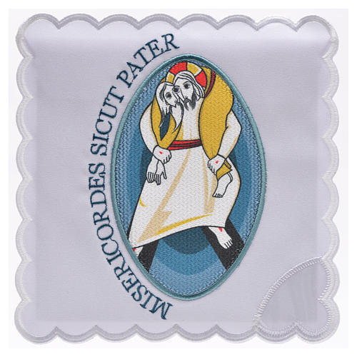 STOCK Conjunto litúrgico Jubileu da Misericórdia algodão 1