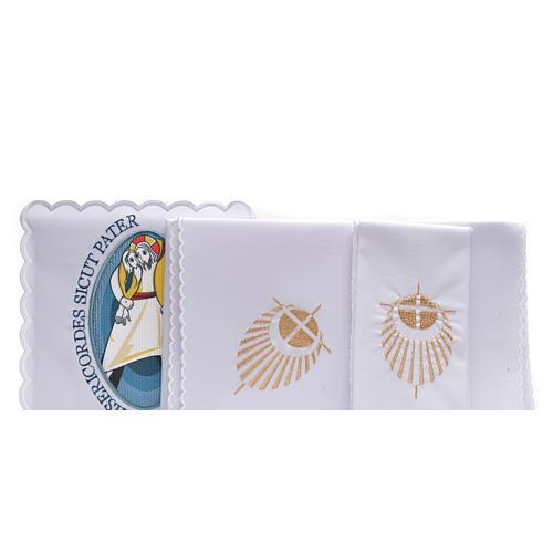 STOCK Conjunto litúrgico Jubileu da Misericórdia algodão 2