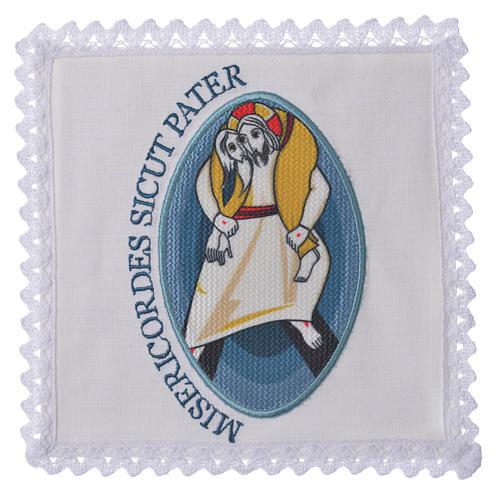 STOCK Conjunto litúrgico Jubileu Papa Francisco linho aplicação 1