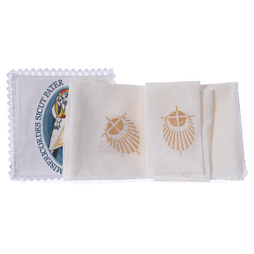 STOCK Jubilee of Mercy altar linen set logo applied 2