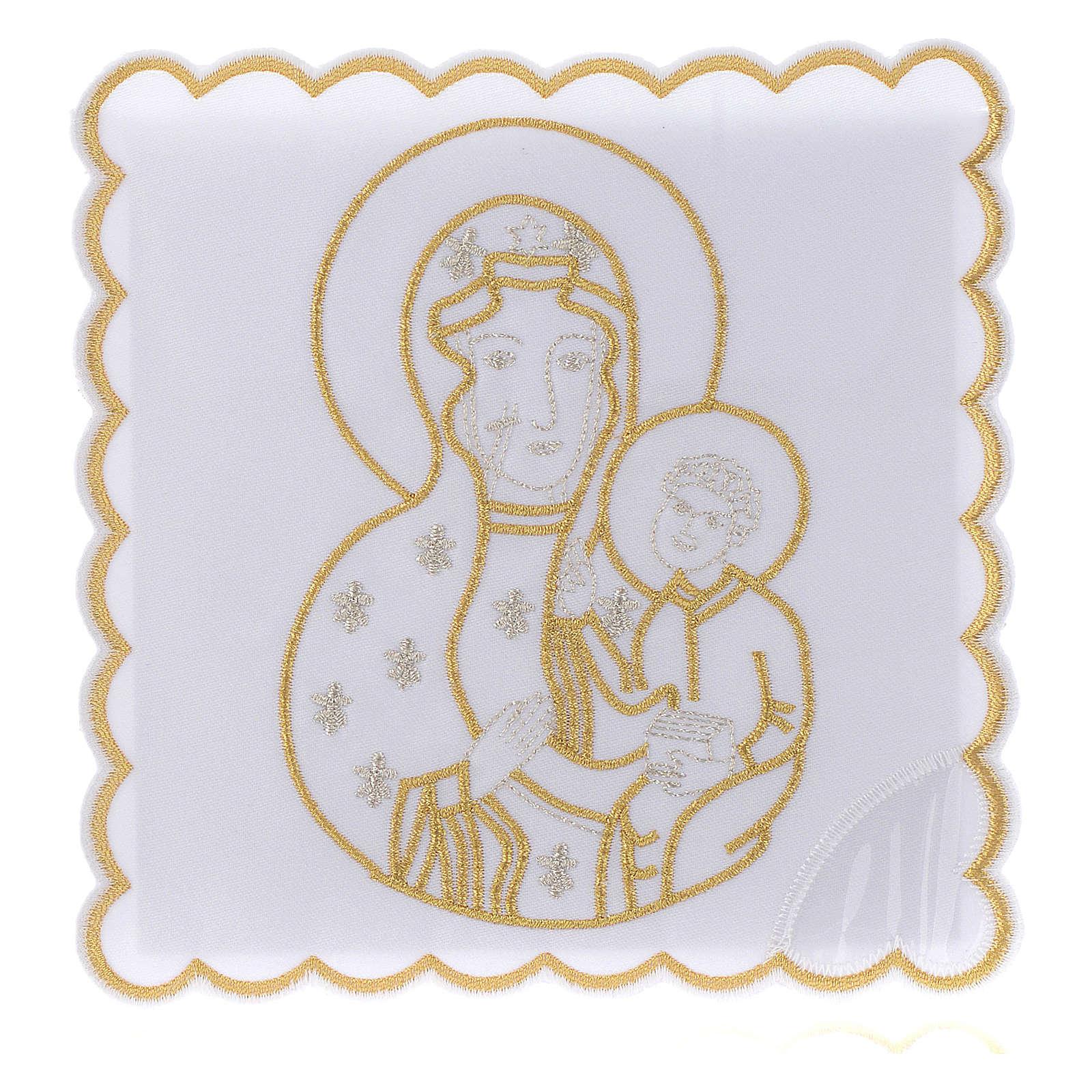 Service linge autel coton Vierge à l'Enfant 4