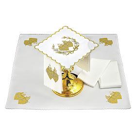 Servicio de altar algodón flores y Sagrado Corazón de Jesús s2