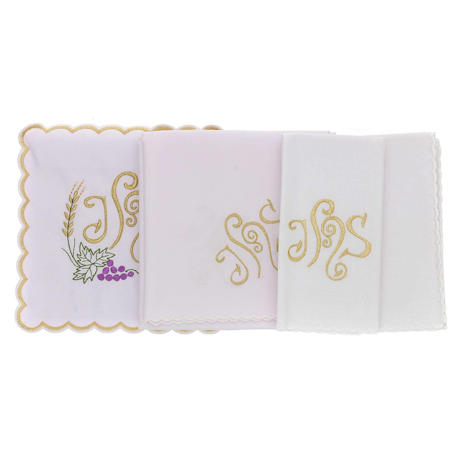 Bielizna kielichowa bawełna kłos liść winogrona symbol JHS 4