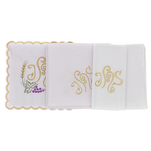 Bielizna kielichowa bawełna kłos liść winogrona symbol JHS 3