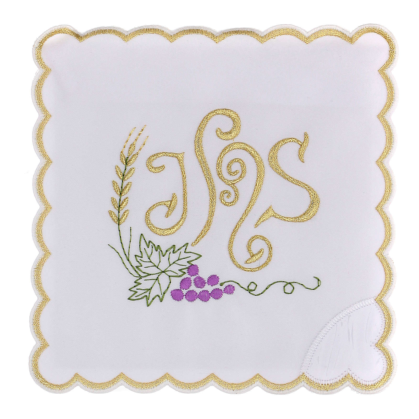 Conjunto de alfaia algodão espiga trigo folha uva símbolo IHS 4