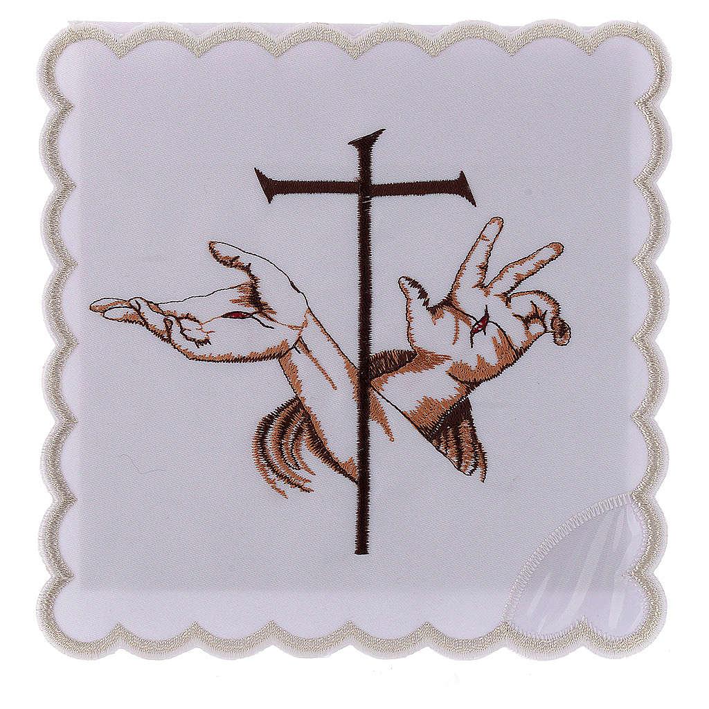 Servizio da altare cotone mani stigmate di Gesù e croce 4