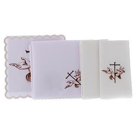 Bielizna kielichowa bawełna ręce ze stygmatami Jezusa i krzyż s2