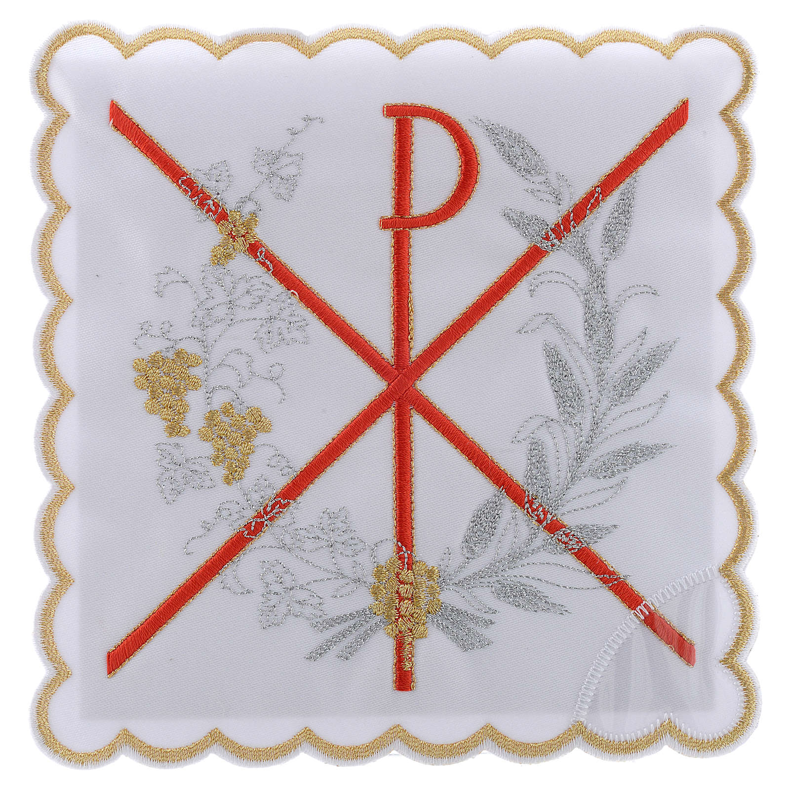 Altar linen PAX symbol red embroidery, cotton 4